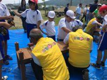 石巻市立渡波小学校卒業制作ベンチ作り支援